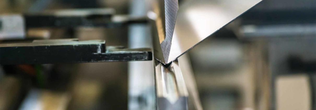 sheet metal being bent